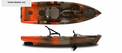 2019 Native Watercraft Titan 10.5 Propel Kayak - Copperhead