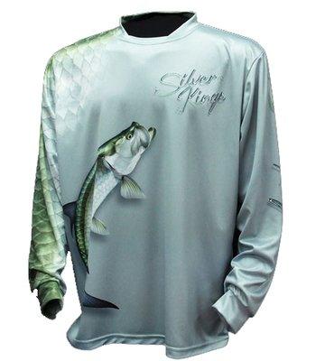 BIG FISH SILVER KING GREY LS SHIRT  - XXL
