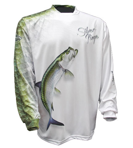BIG FISH SILVER KING WHITE LS SHIRT - XL