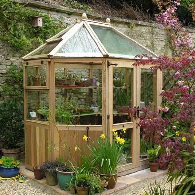 Stramshall Octagonal Cedar Greenhouse 6ft 6