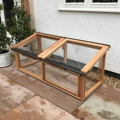 5ft x 2ft Fully Glazed Cedar Coldframe