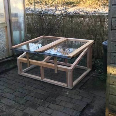 4ft x 3ft Fully Glazed Cedar Coldframe