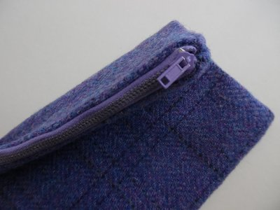 Purple Harris Tweed bag