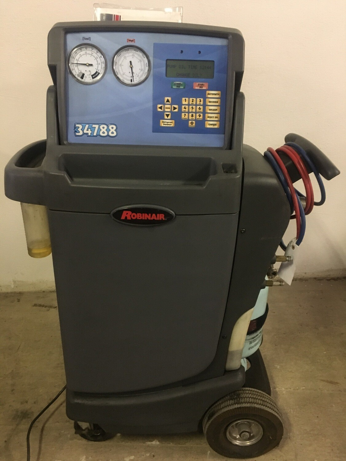 Robinair 34788 Recovery Recycling Recharging Unit Used R-134A