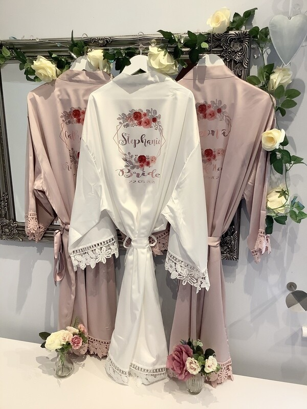 NEW...STEPHANIE satin lace robes