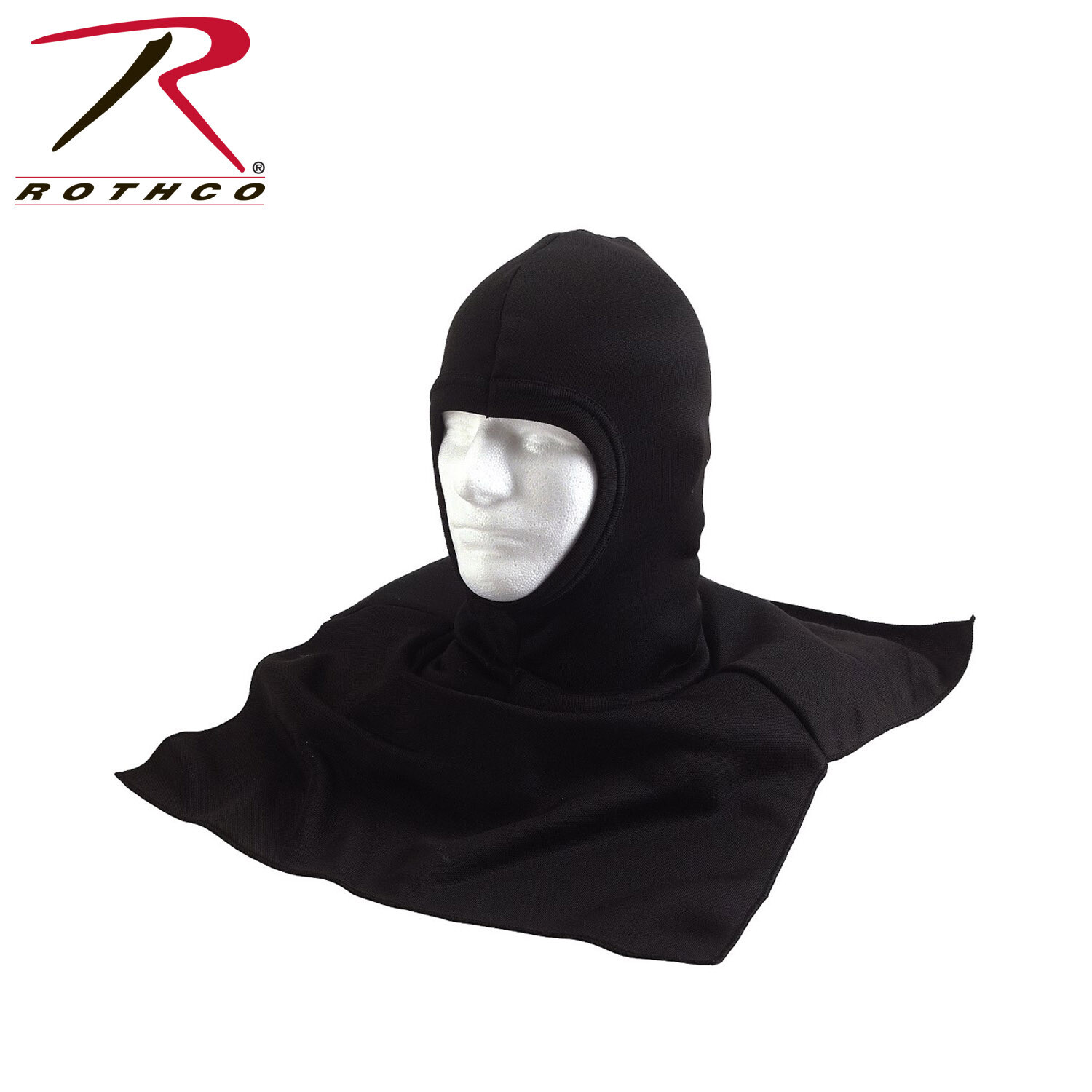Rothco, 5522, Black Extended Cold Weather Poly Balaclavas w/Dickie