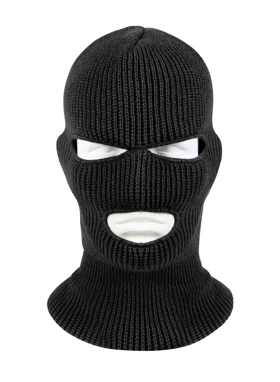 Rothco, 5504, Black Acrylic 3-Hole Face Mask