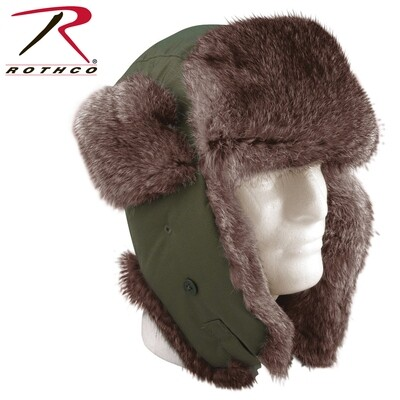 Rothco, 9870/9860, Fur Flyers Hat, Black and OD, Sizes 7- 7 3/4
