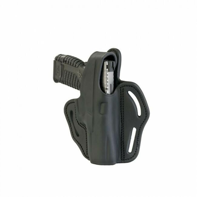 1791 Gunleather, BHX3SBLR, Dual-Position OWB Thumb Break Belt Holster, Blk RH Fits: Glock 17/19/23