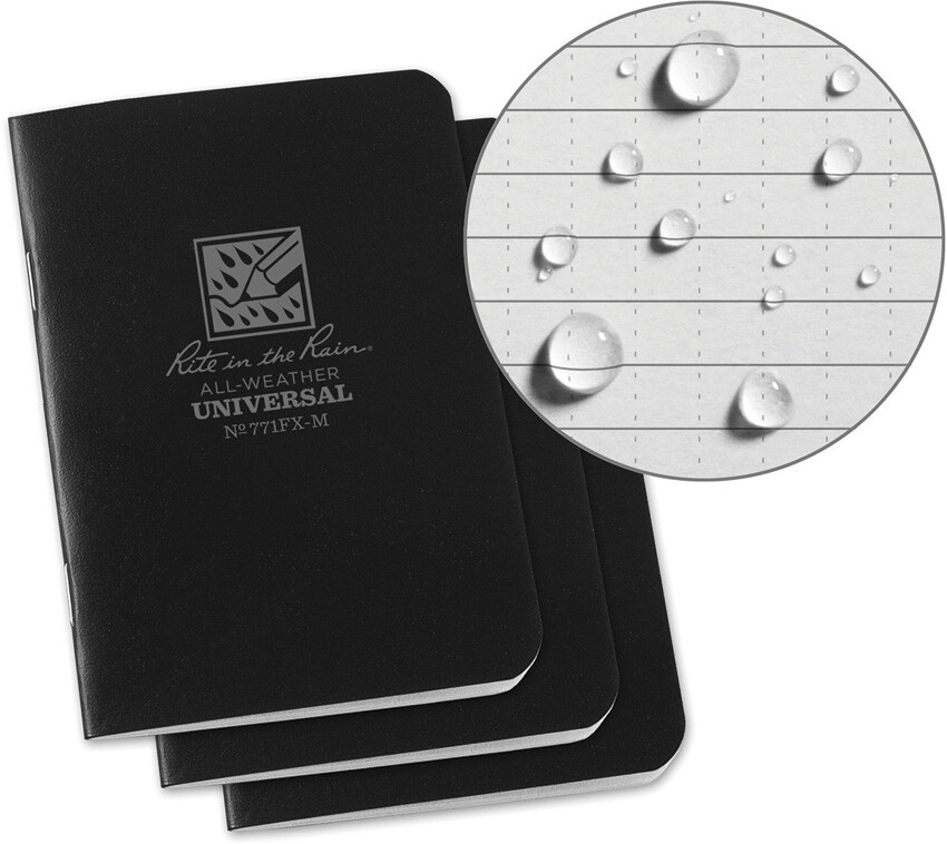 Rite in the Rain, 771FXM, Mini Stapled Notebook 3 pack