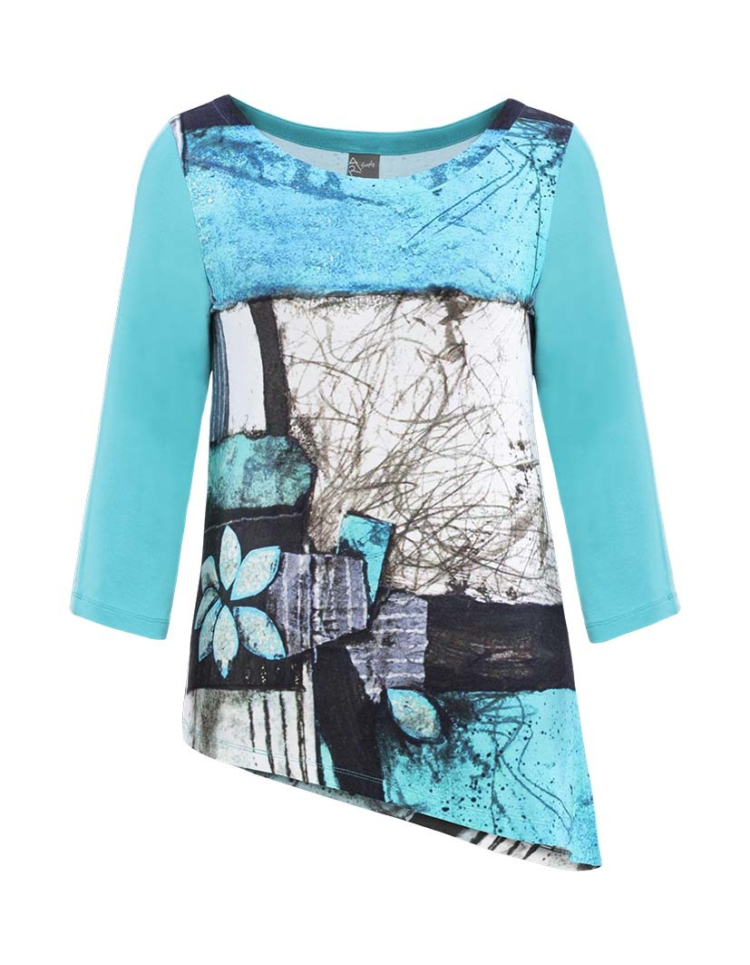 Simply Art Dolcezza: Ocean Breeze Orchid Asymmetrical Art Tunic SOLD OUT