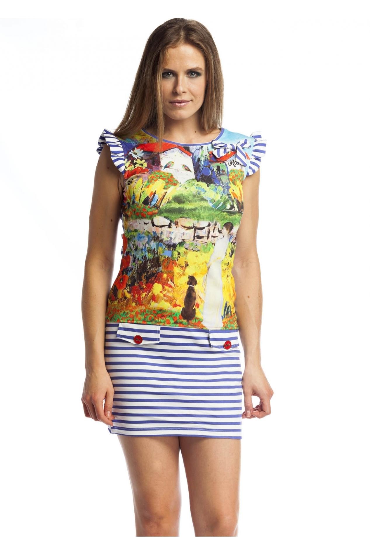Rosalita McGee: Monet Garden Ruffled Bow Dress/Tunic (2 Left!) RM_TERESA_DRESS_N