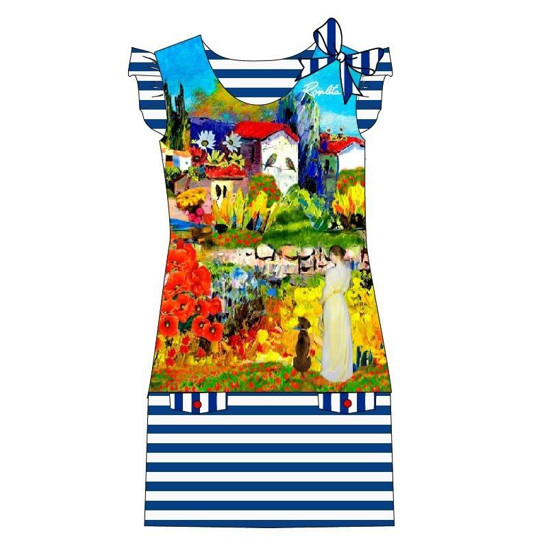 Rosalita McGee: Monet Garden Ruffled Bow Dress/Tunic (2 Left!)