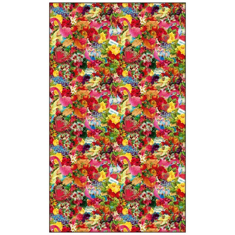 Rosalita McGee: Wild Strawberry Patch Spring Art Pashmina Scarf (2 Left!)