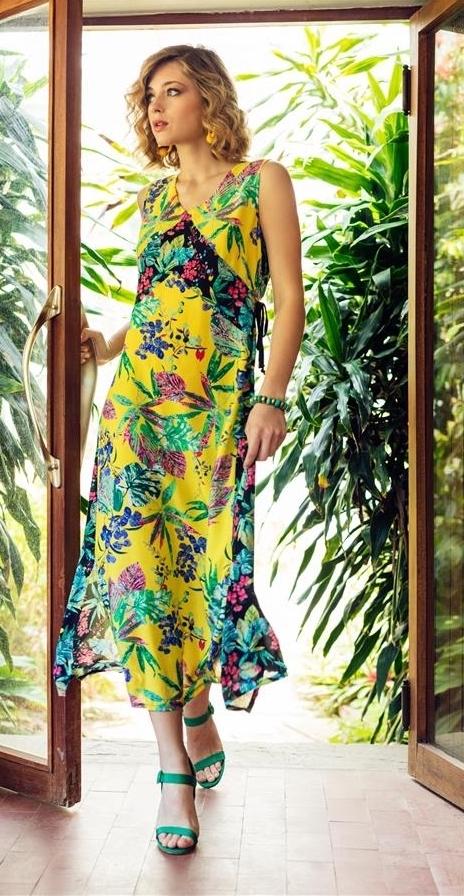 Maloka: Pink Eucalyptus Patchwork Maxi Dress MK_FRIVOLE_N