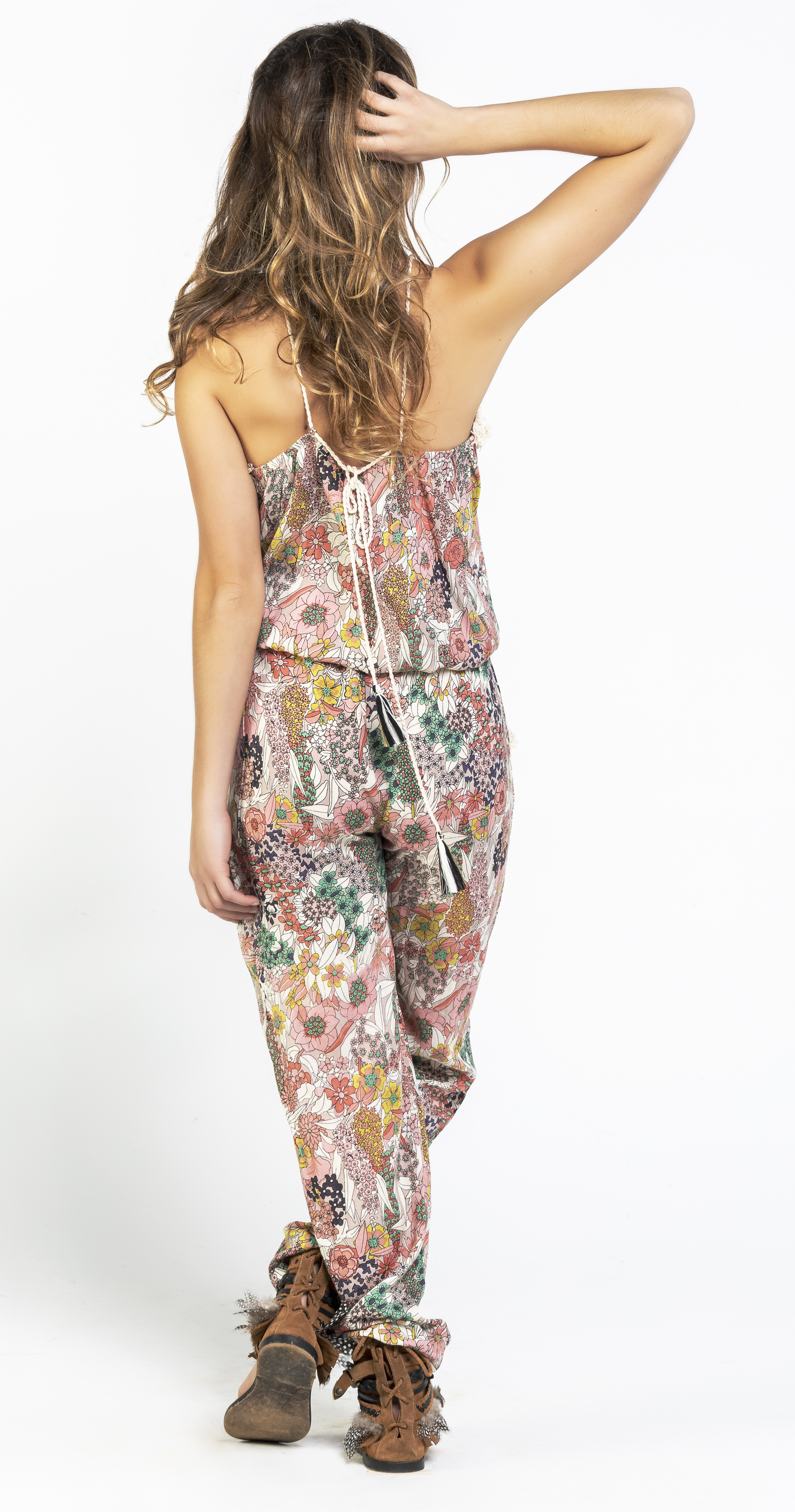 Savage Culture: Pink Daffodil Long Beach Jumpsuit SOLD OUT