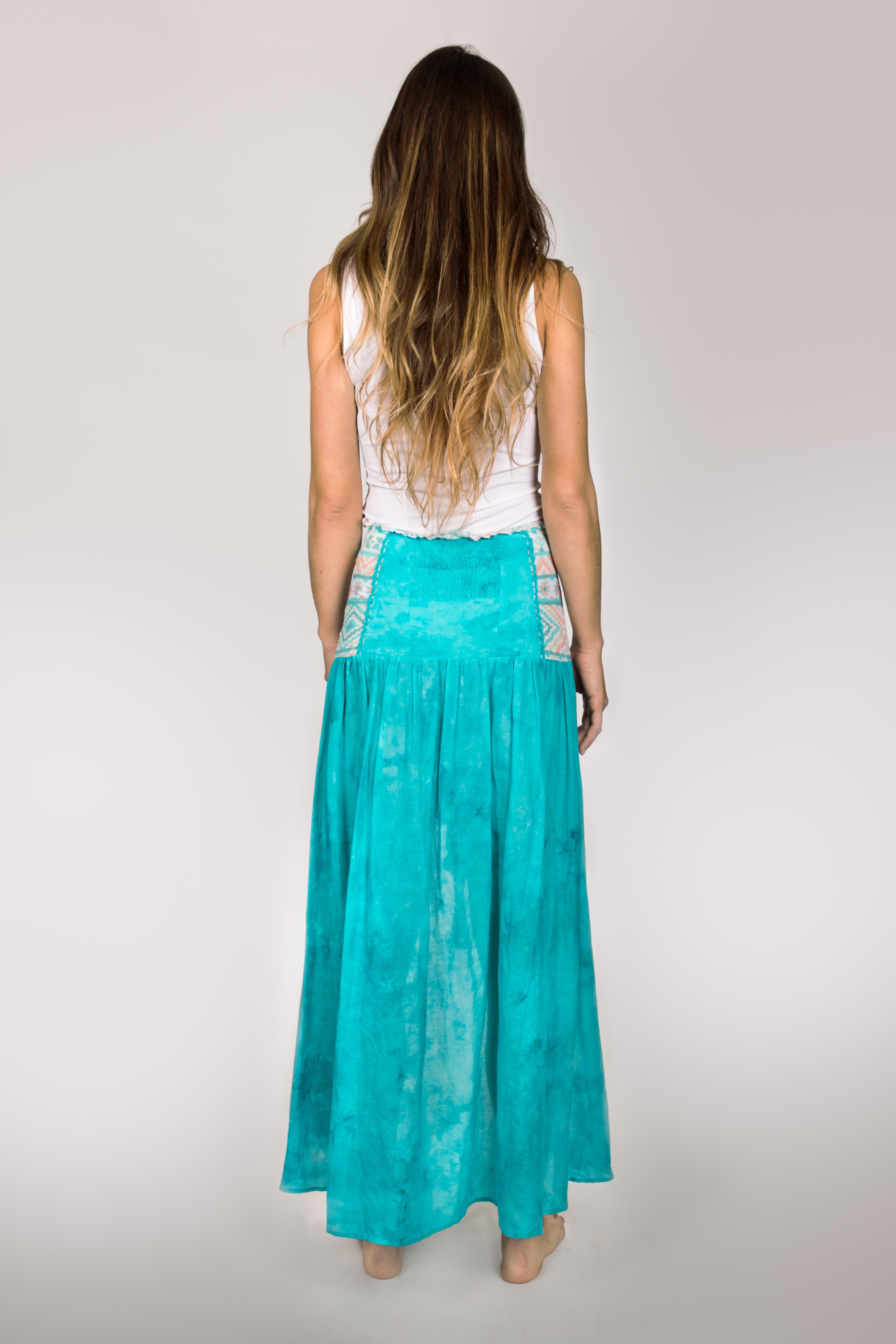 Shoklett: High Low Corset Waist Sea Flower Skirt Sherlyn (1 Left!)