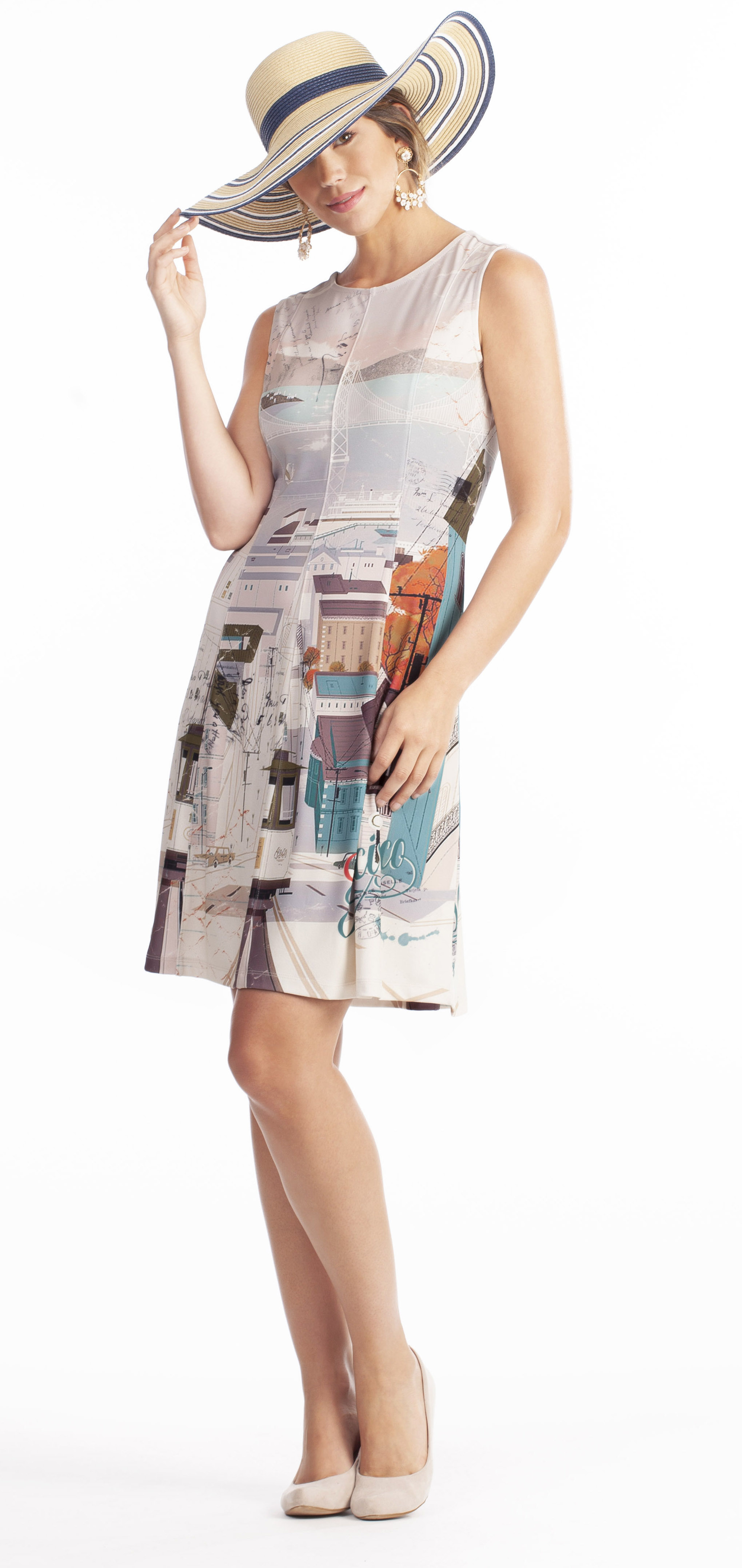 Dolcezza: Like To Travel Fit & Flare Dress/Tunic (1 Left!) DOLCEZZA_19171_N1