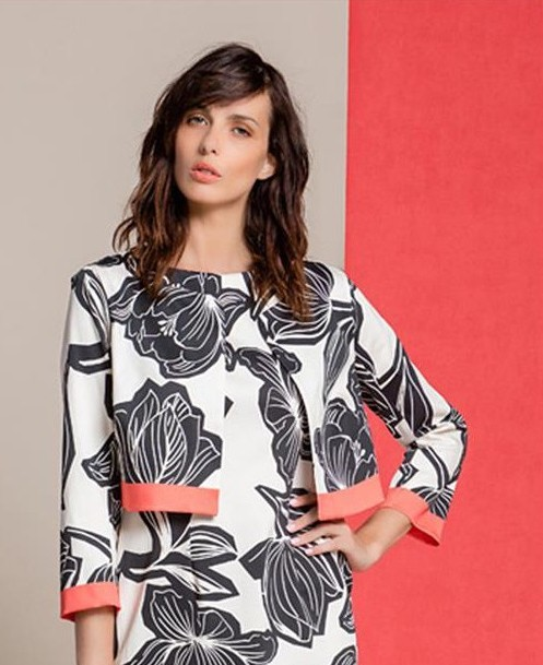 Paul Brial: Unraveling Black Tulip Cotton Jacket SOLD OUT PB_BOLERO_COLORE