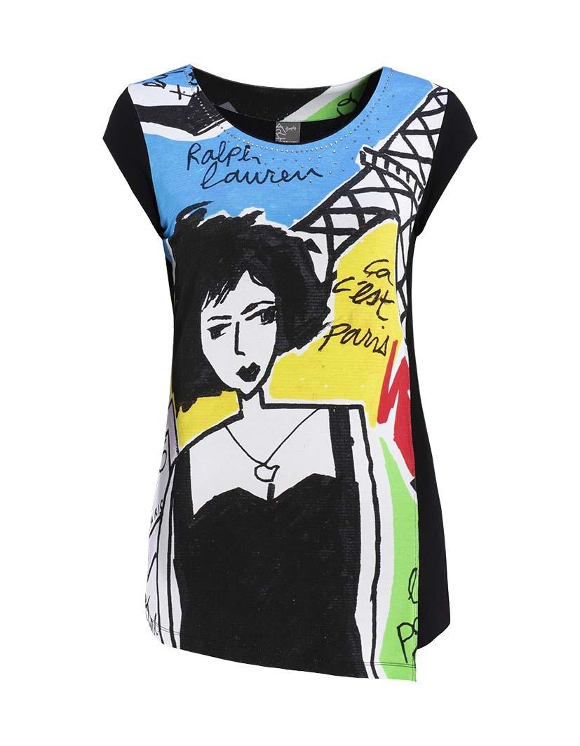 Dolcezza Simply Art: Pretty Lady In Paris Asymmetrical Art Tunic SOLD OUT DOLCEZZA_SIMPLY_ART_19702