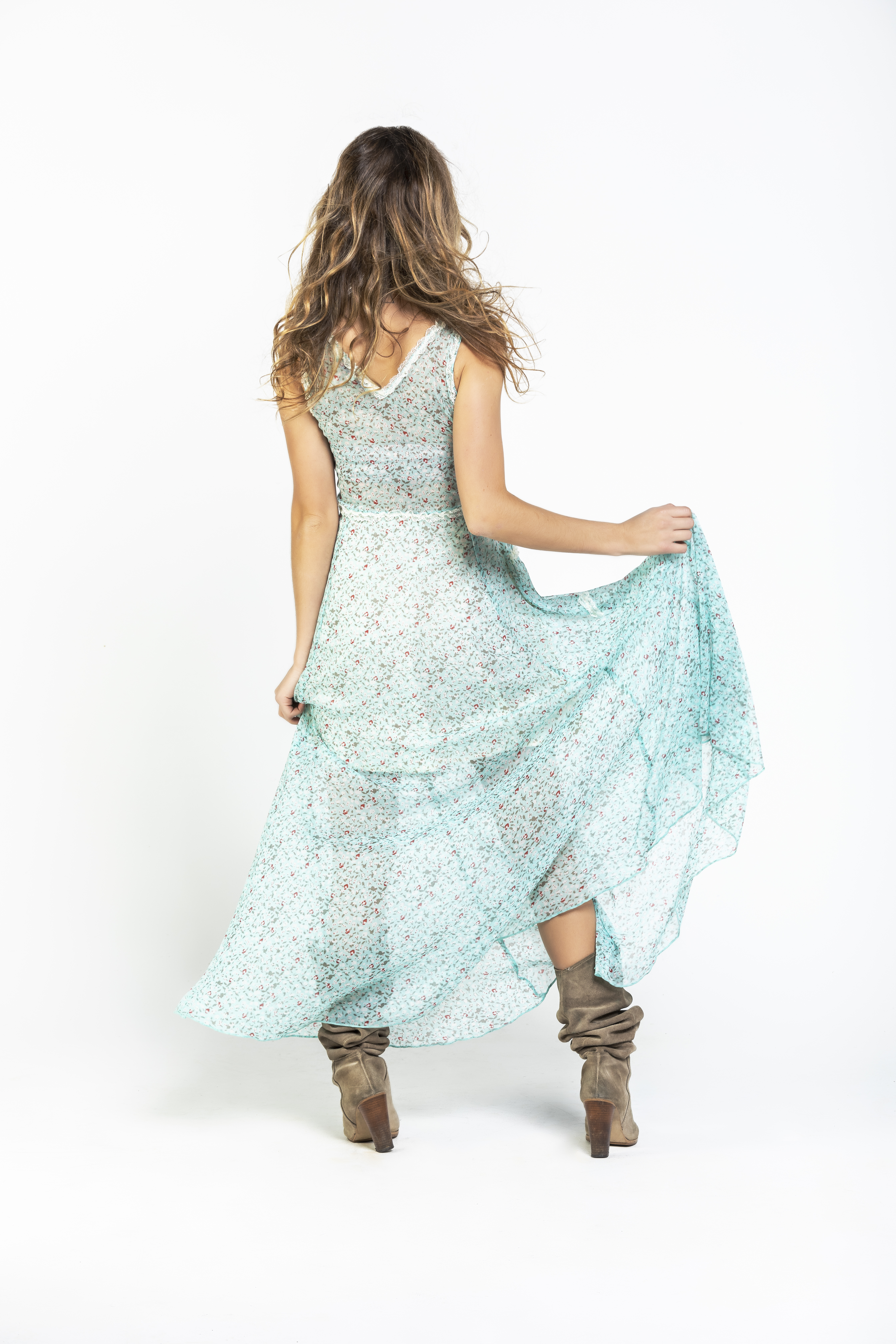 Savage Culture: Baby Roses Boho Chic Riverside Maxi Dress