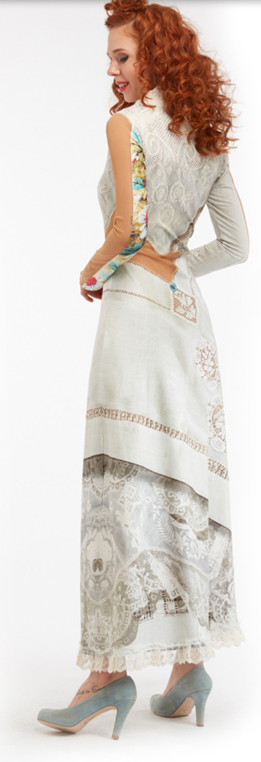 IPNG: Asymmetrical Snapshot Of Poetic Layers Illusion Dress