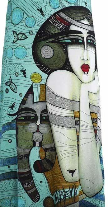 Dolcezza Simply Art: Mermaid Dreamings Flared Art Dress (1 Left!)