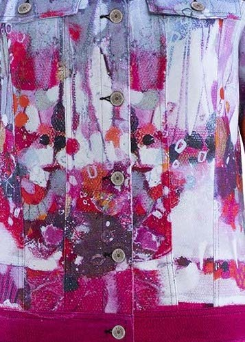 Simply Art Dolcezza: Fuschia Candy Storm Abstract Art Jacket SOLD OUT