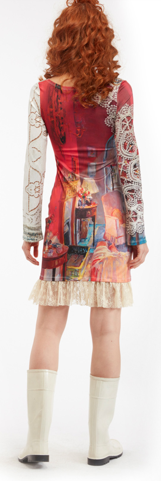 IPNG: Snapshot Of Poetic Layers Pink Living Room Illusion Dress