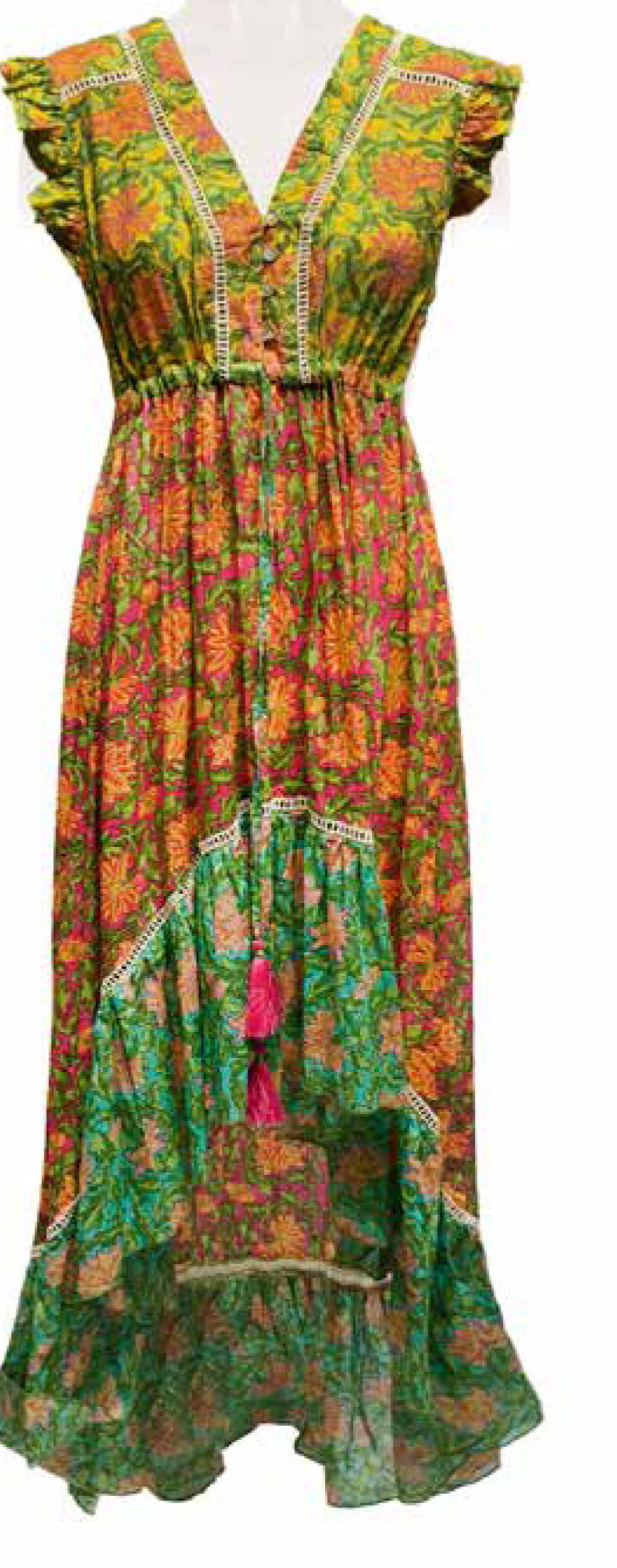 Savage Culture: Lily Of The Incas Cotton High Low Sundress Yapen