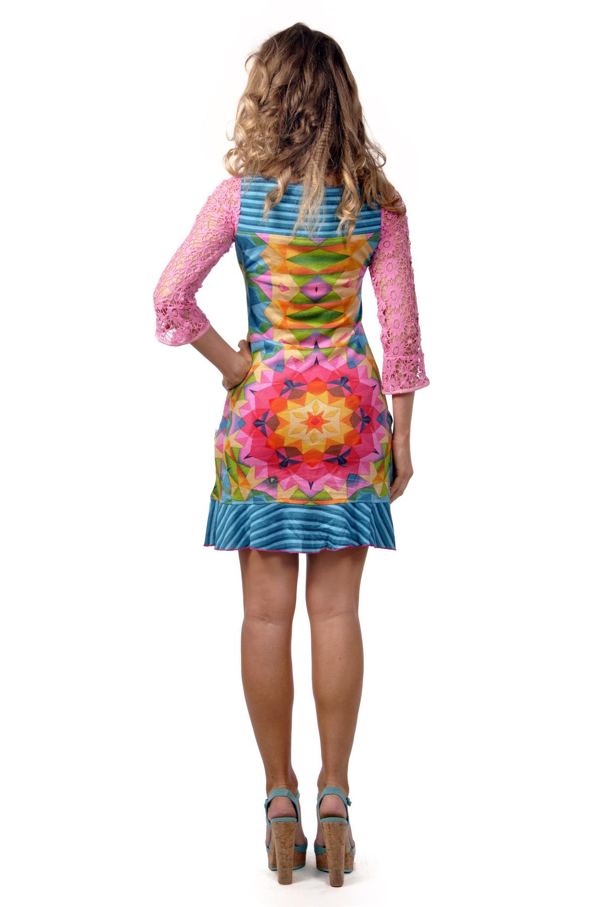 Savage Culture: Pink Rosette Delicate Dakota Dress (Almost Gone!)