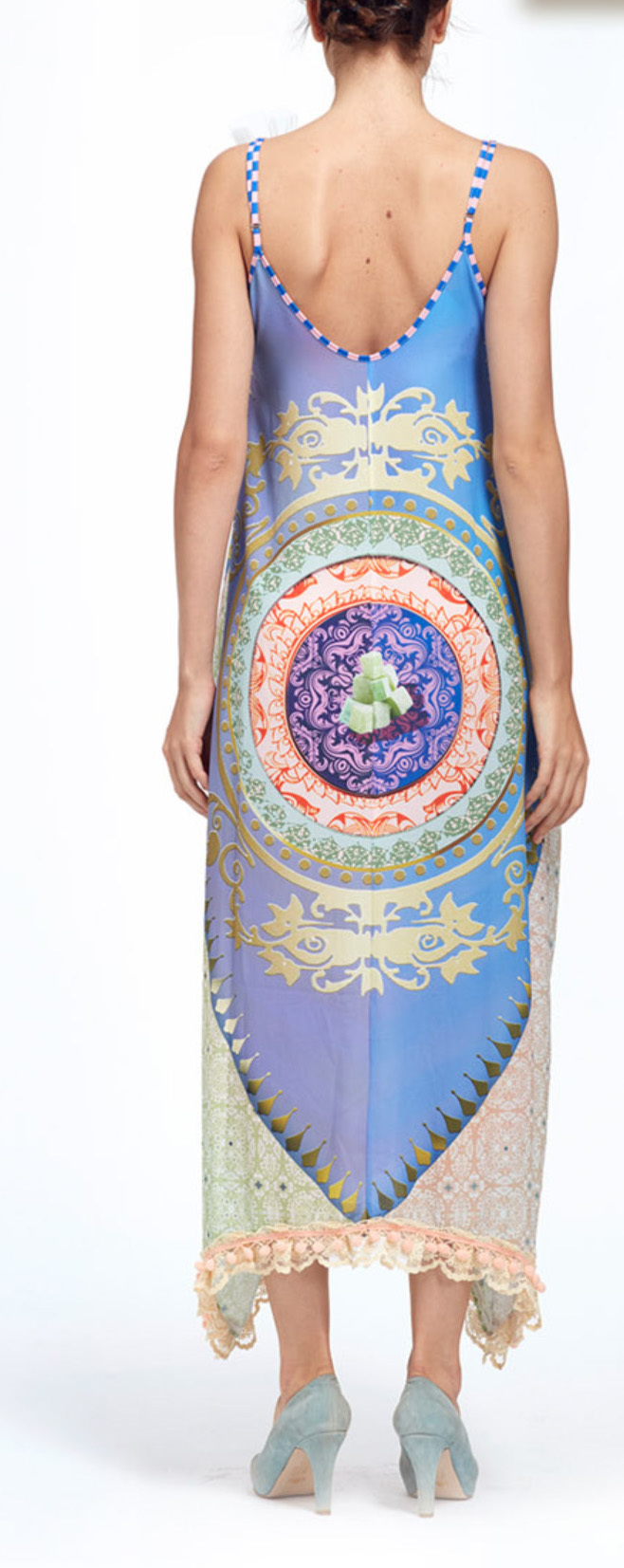 IPNG: Pink Lotus Lokoometric Bow Four Corners Illusion Dress (Some Ship Immed!)