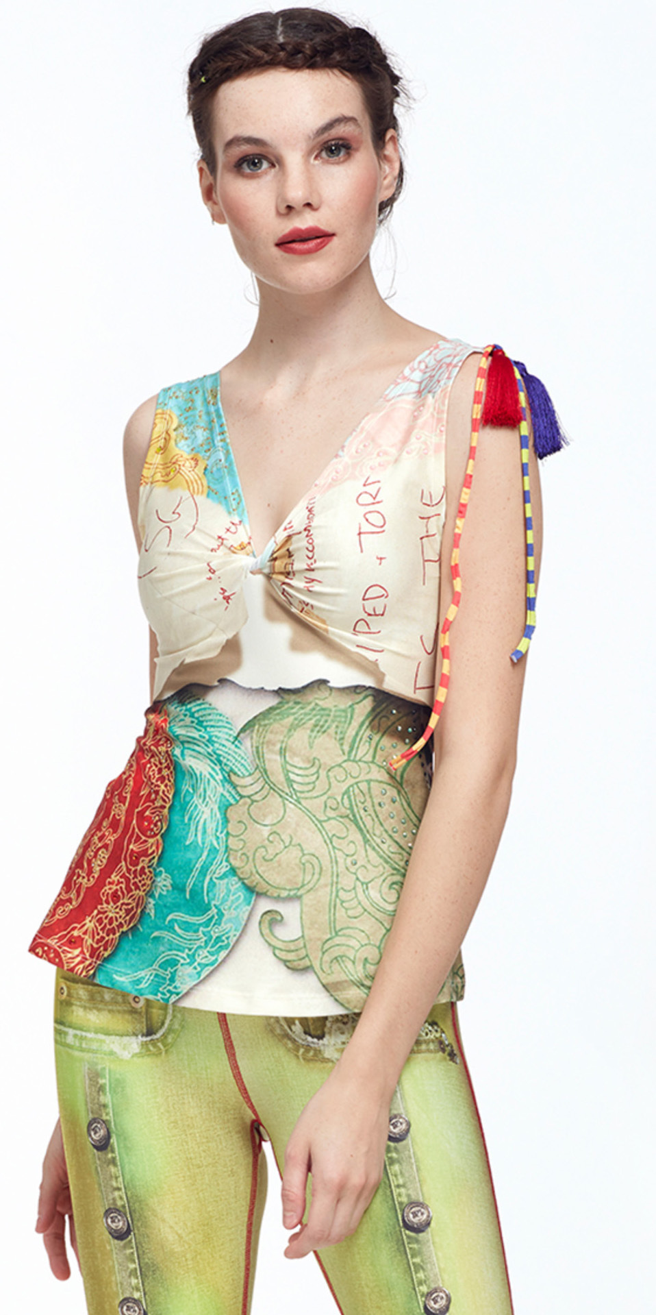 IPNG: The World At Your Paper Boat Trip Illusion Top (In 2 Colors!) IPNG_PBTB-018_019