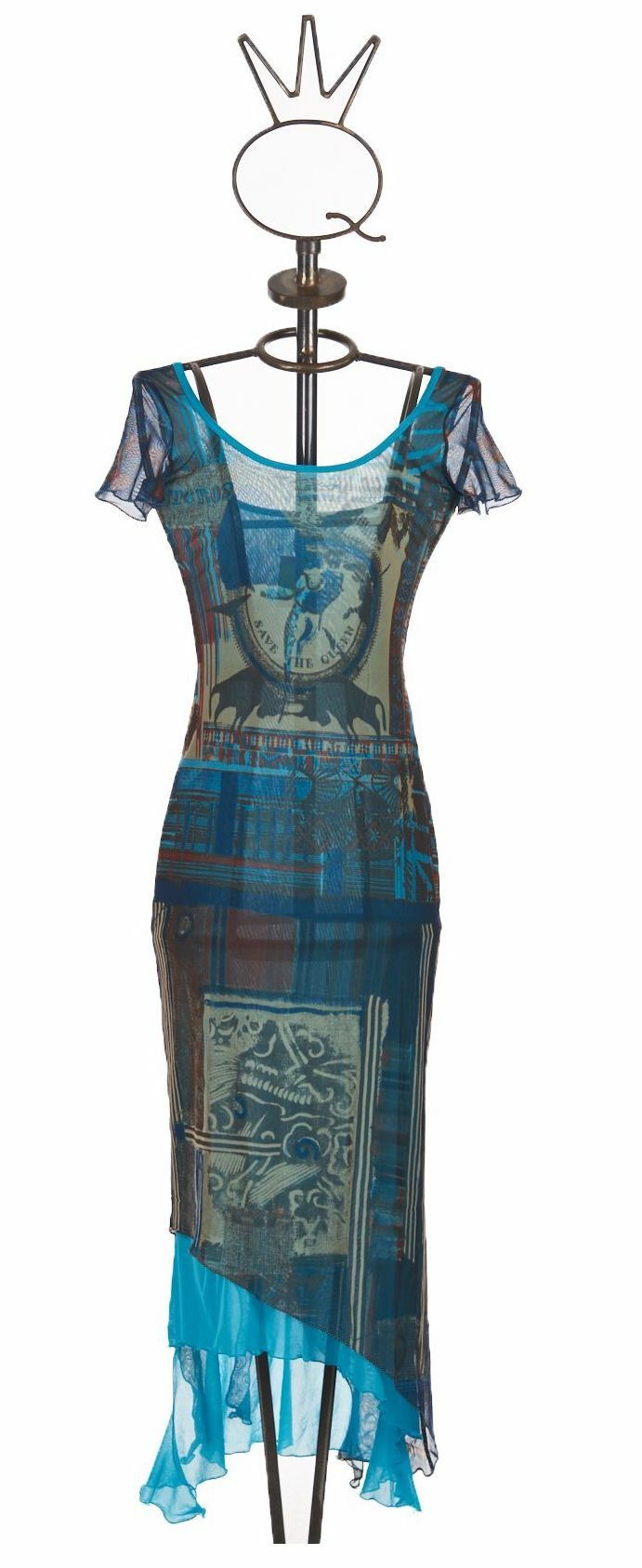 Save The Queen: Turquoise Sand Illumination Dress (1 Left!) STQ_667