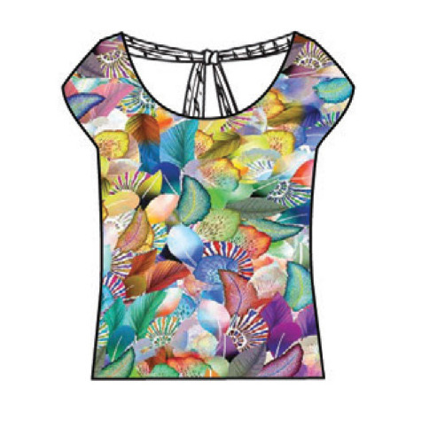 Paul Brial: Colors Of The Water Lily Tie Back Top (1 Left!)