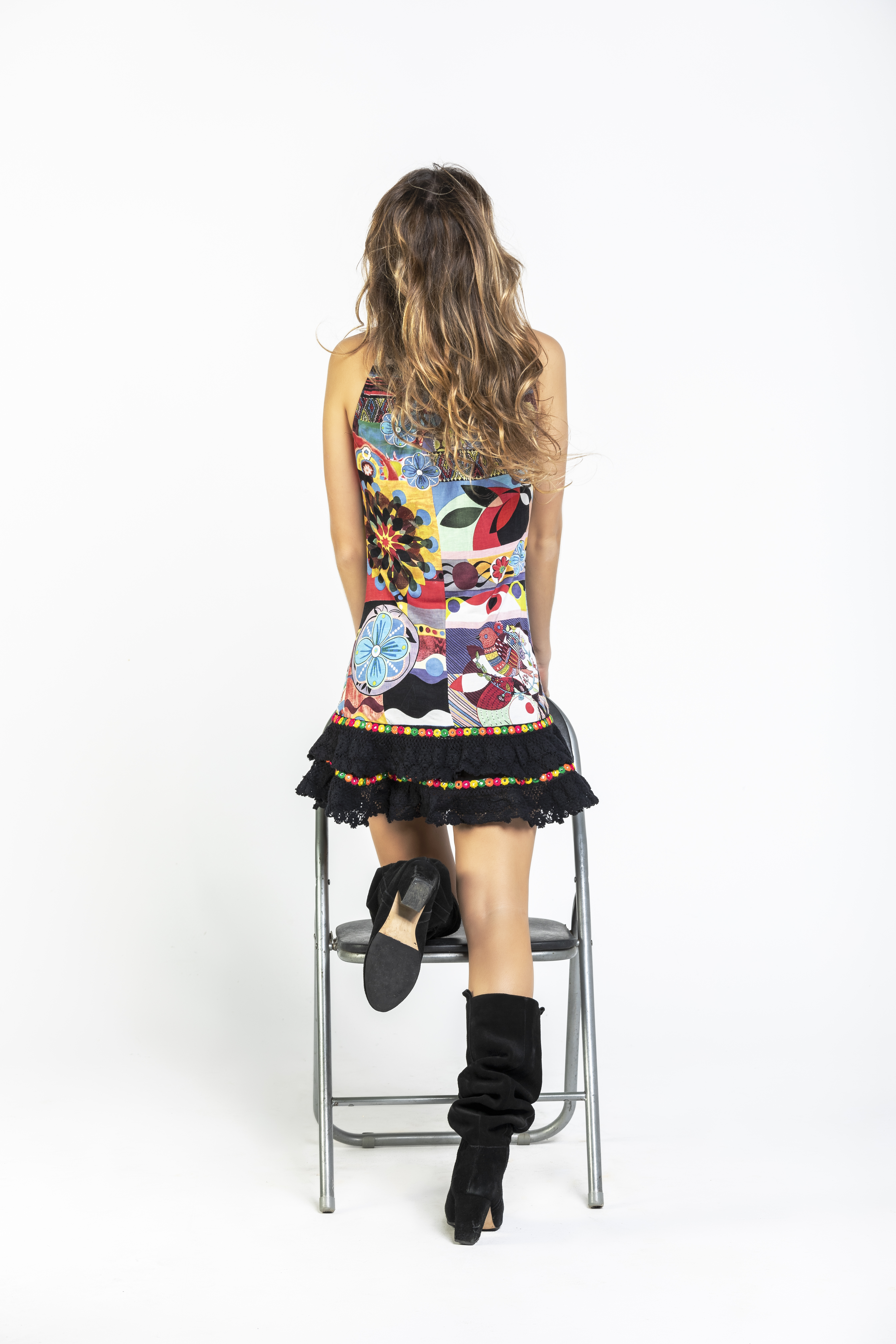 Savage Culture: Prism Flower Pom Pom Dress/Tunic