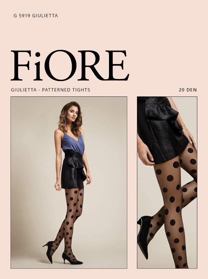 Fiore: Fantasy Bubbles Patterned T-Band Tights