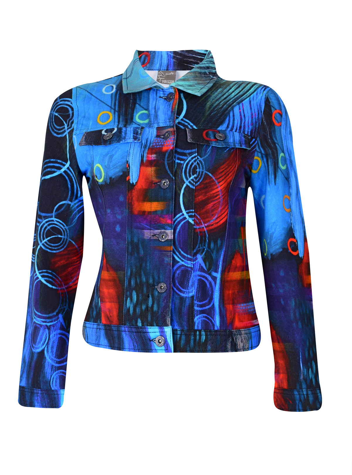 Simply Art Dolcezza: Distilling Colors Of Beauty Abstract Art Jacket SOLD OUT