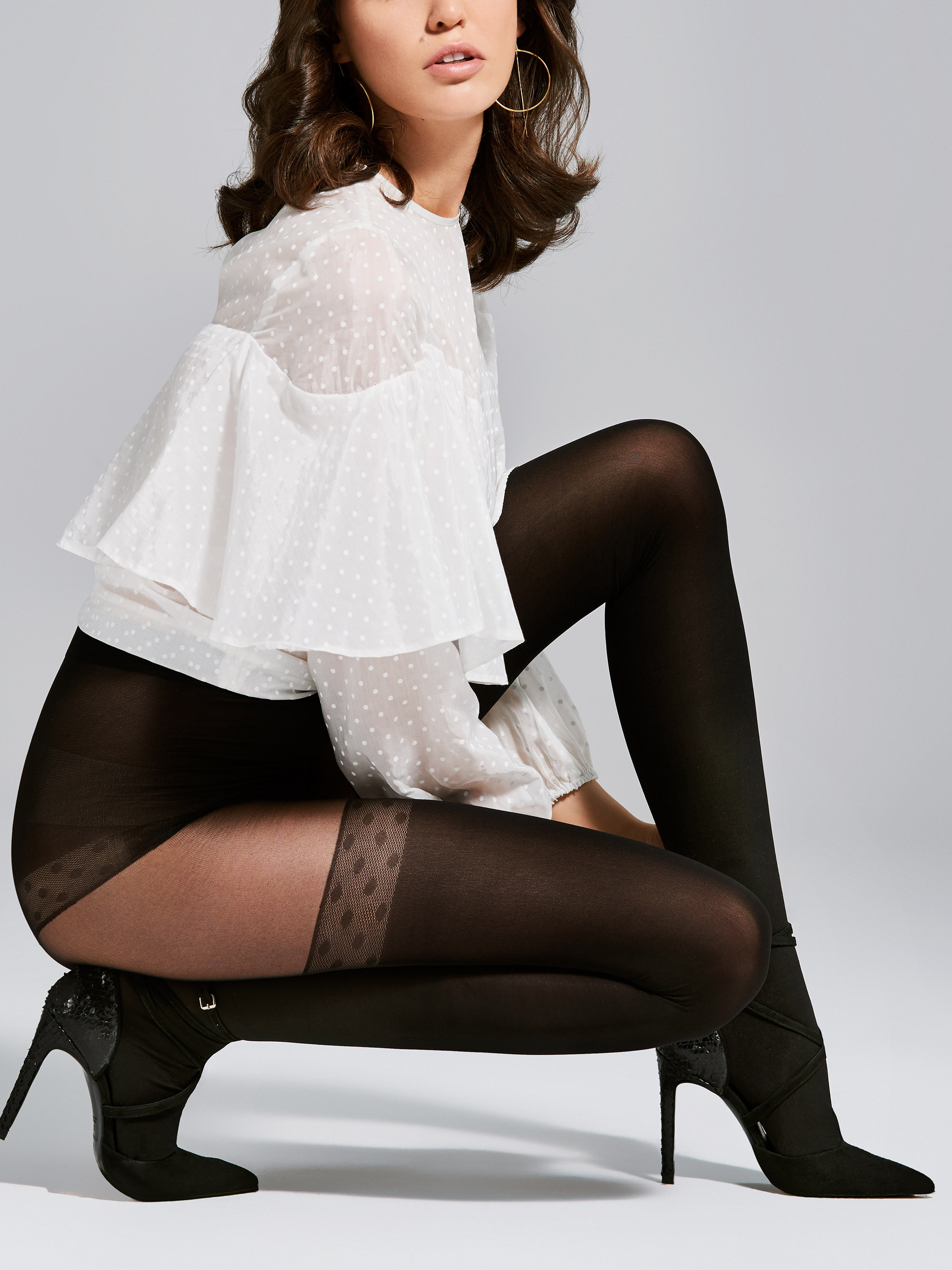 Fiore: Seduction Patterned Opaque Microfibre Tights