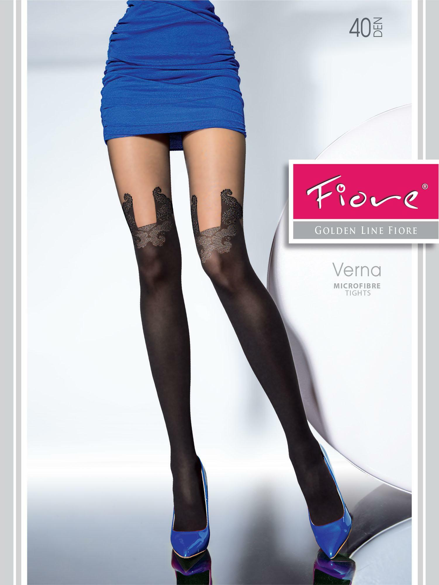 Fiore: Parisian Life Patterned Microfibre Tights SOLD OUT
