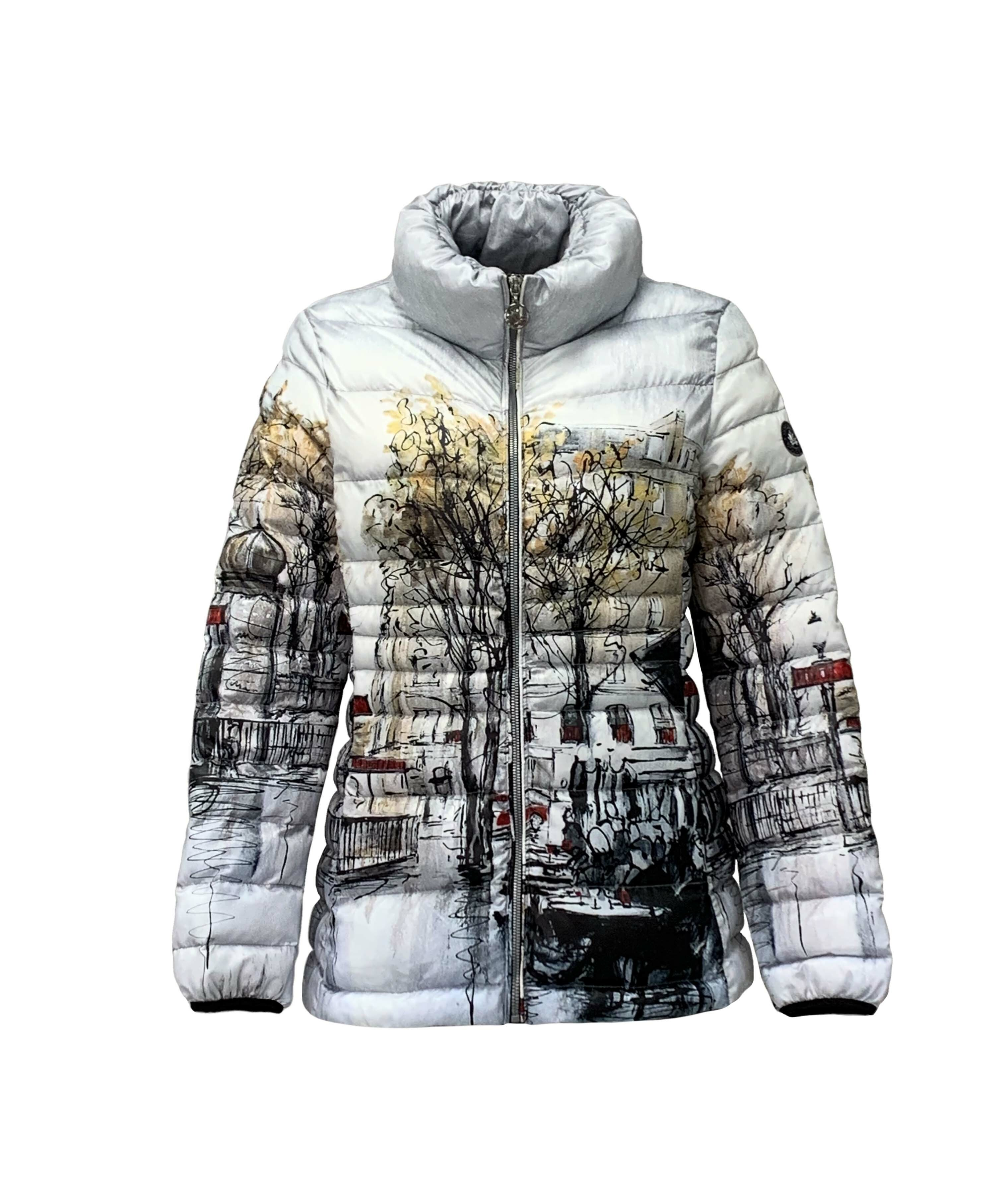 Simply Art Dolcezza: Parisian Life Abstract Art Puffer Jacket SOLD OUT