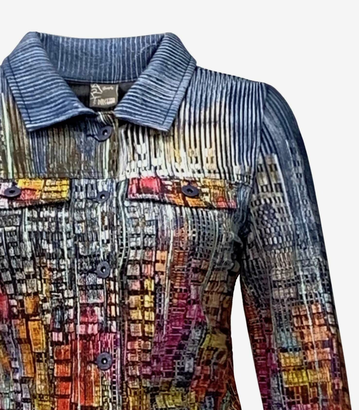 Simply Art Dolcezza: Papillons Of The Night Abstract Art Soft Denim Jacket SOLD OUT