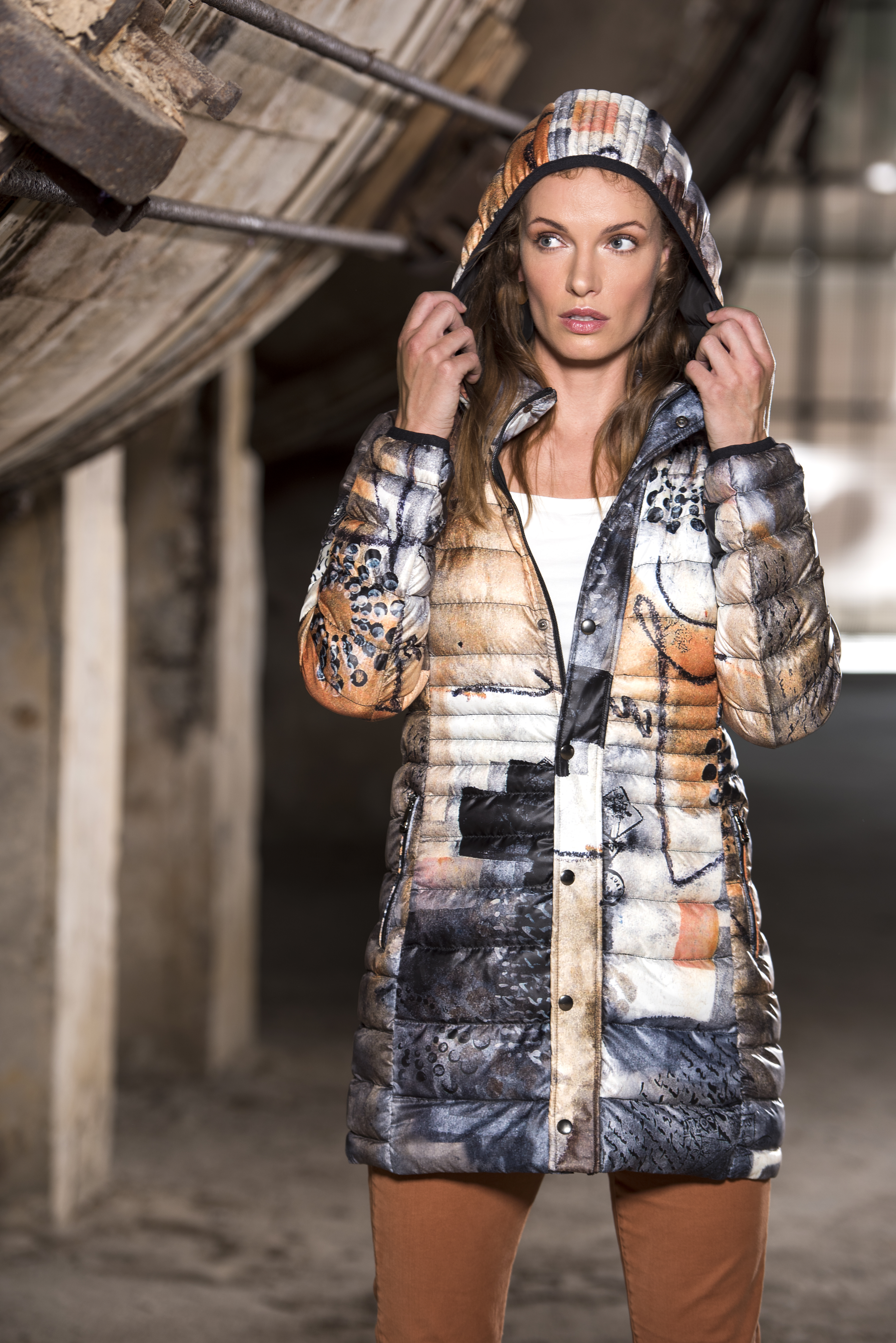 Simply Art Dolcezza: Romantic Rhythm Quilled Abstract Art Puffer Coat SOLD OUT Dolcezza_SimplyArt_59870_N
