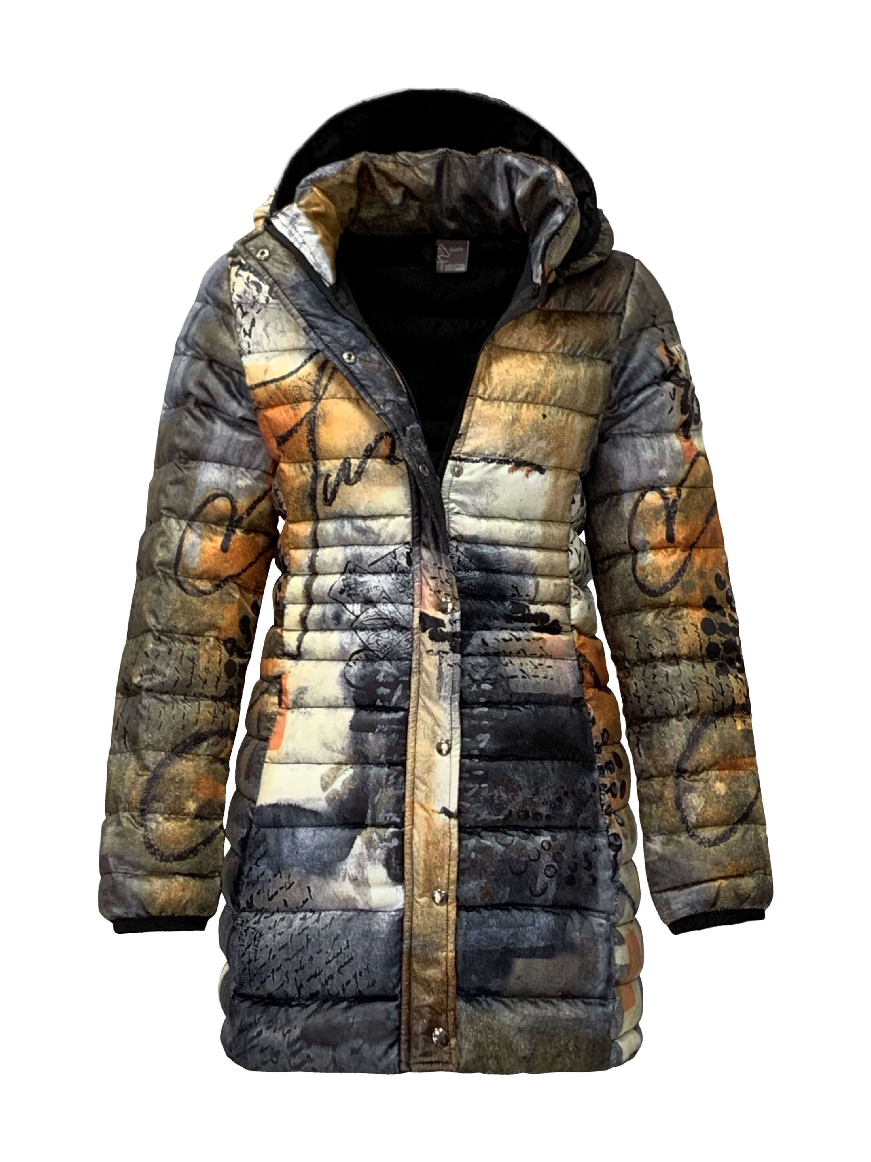 Simply Art Dolcezza: Romantic Rhythm Quilled Abstract Art Puffer Coat SOLD OUT