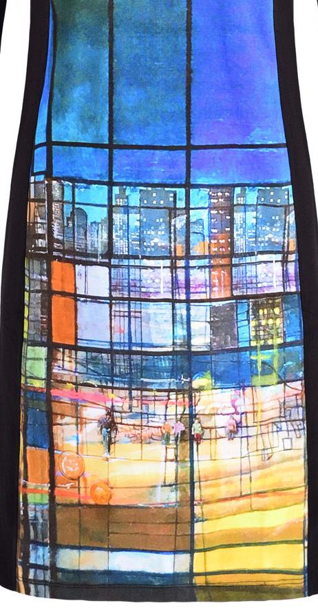 Simply Art Dolcezza: Colors Of Ville La Nuit Abstract Art Dress (1 Left!)