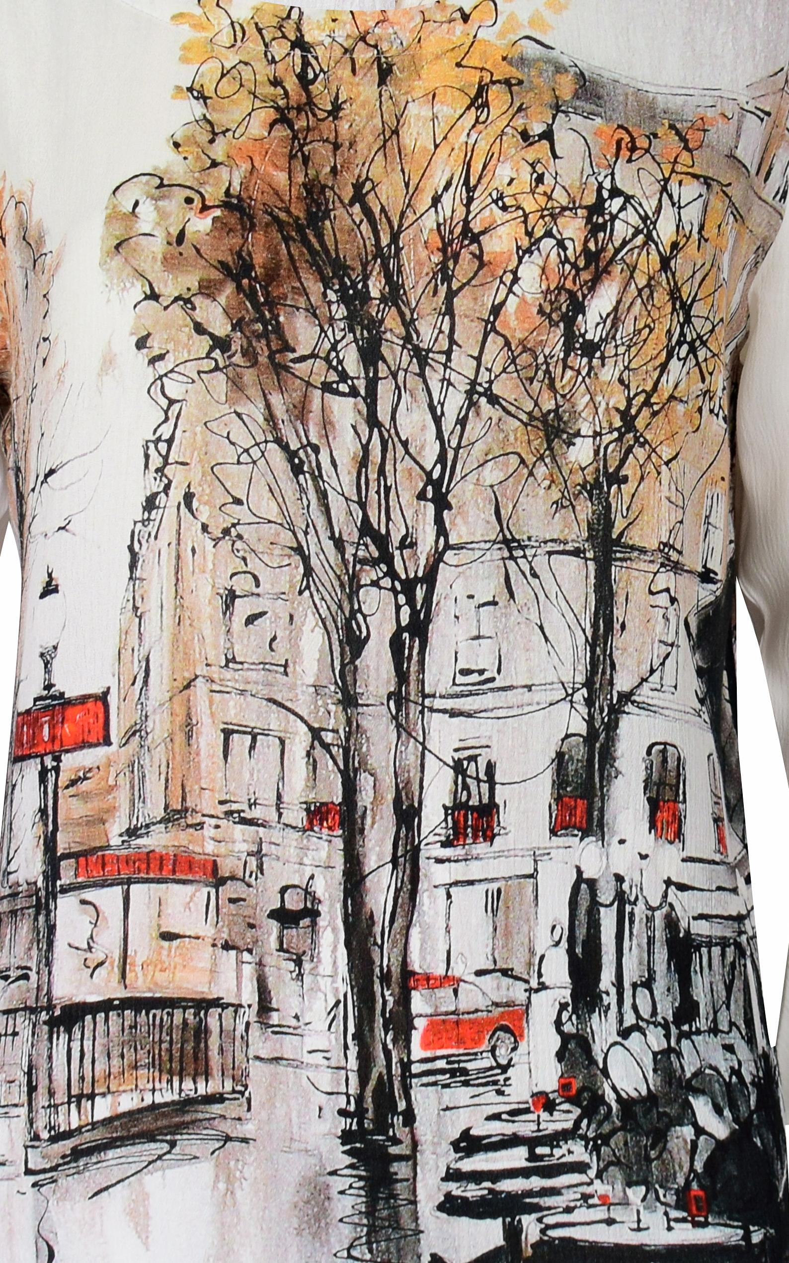 Simply Art Dolcezza: Splendid Parisian Life Back Buttoned Abstract Art Tunic (1 Left!)