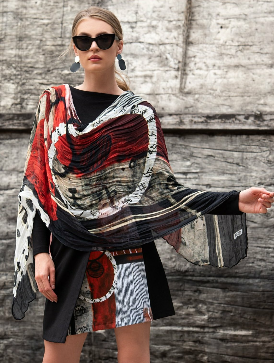 Simply Art Dolcezza: Pretty In Red Extraordinary Abstract Art Crossover Skirt SOLD OUT