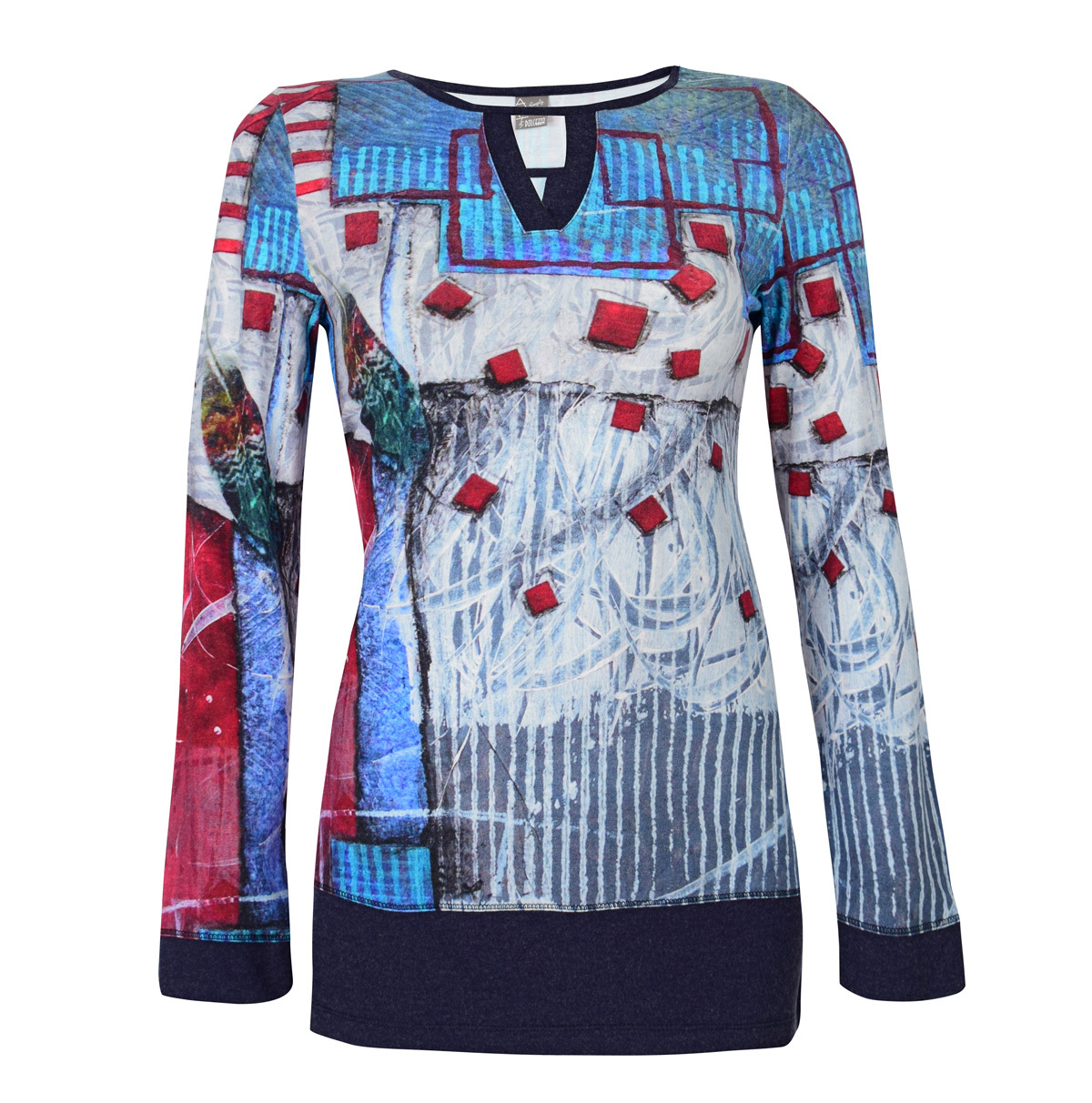Simply Art Dolcezza: Only Love Spiritually Square Abstract Art Tunic (1 Left!) Dolcezza_SimplyArt_59662
