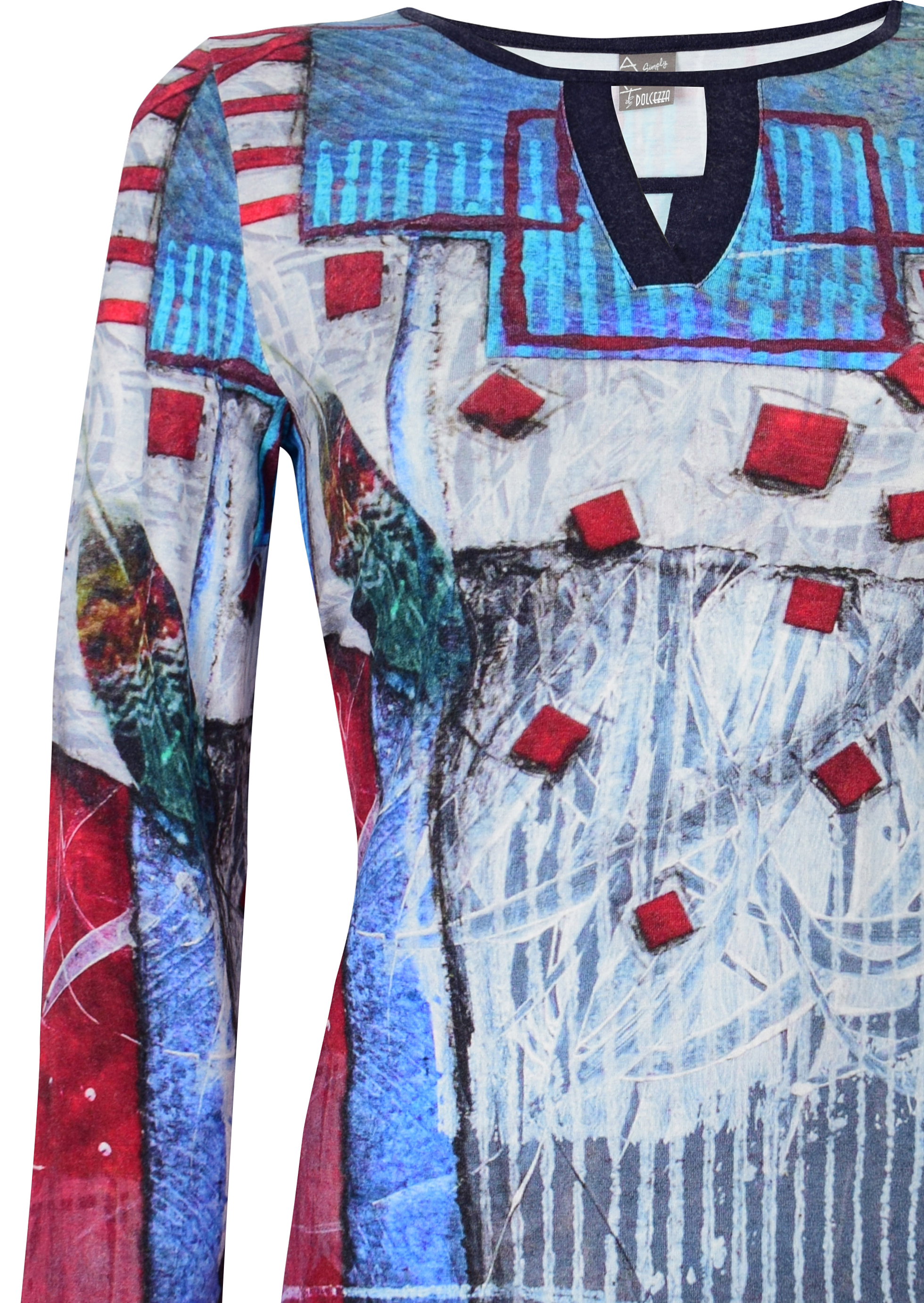 Simply Art Dolcezza: Only Love Spiritually Square Abstract Art Tunic (1 Left!)