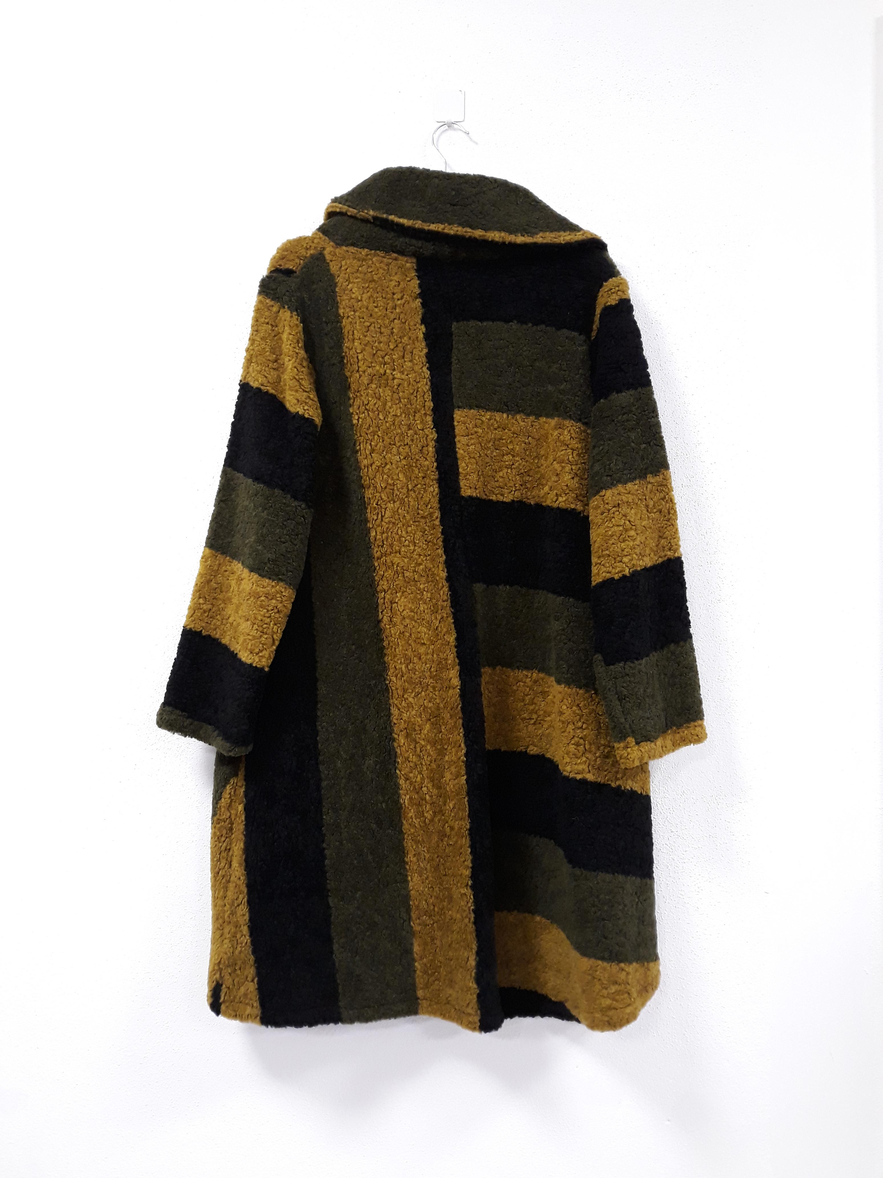 G!OZE: Color Contrast High Low Wool Coat (Few Left!)